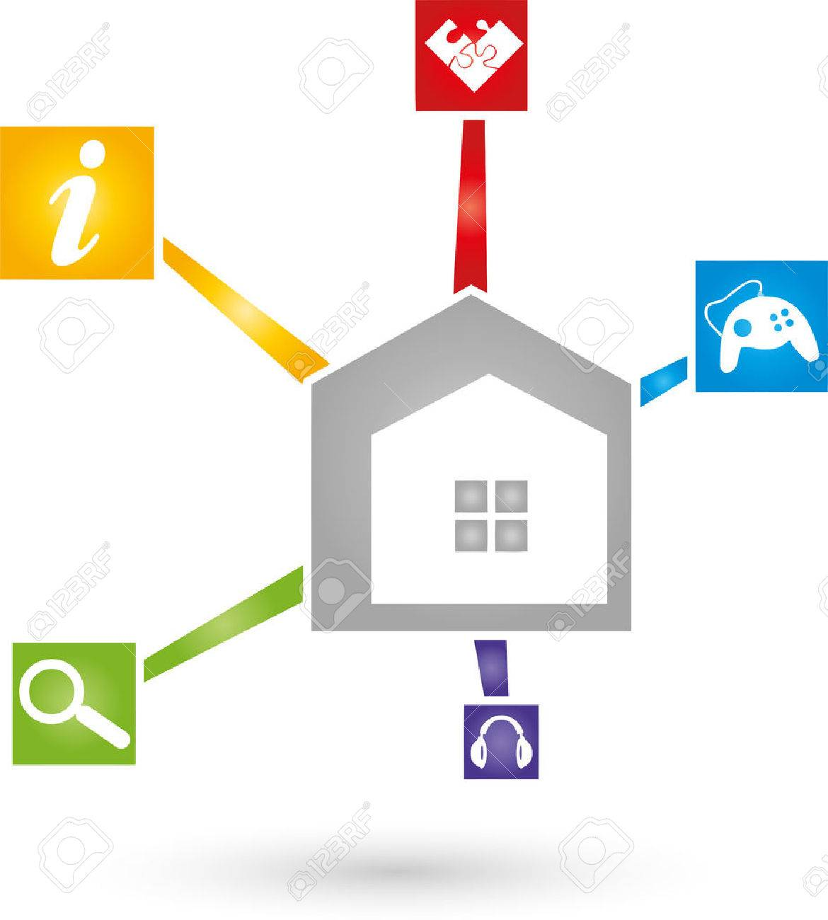 Home Network, IT, Service Royalty Free Cliparts, Vectors, And Stock ...