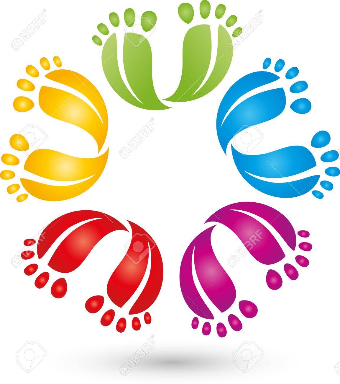 Many feet icon - 58384374