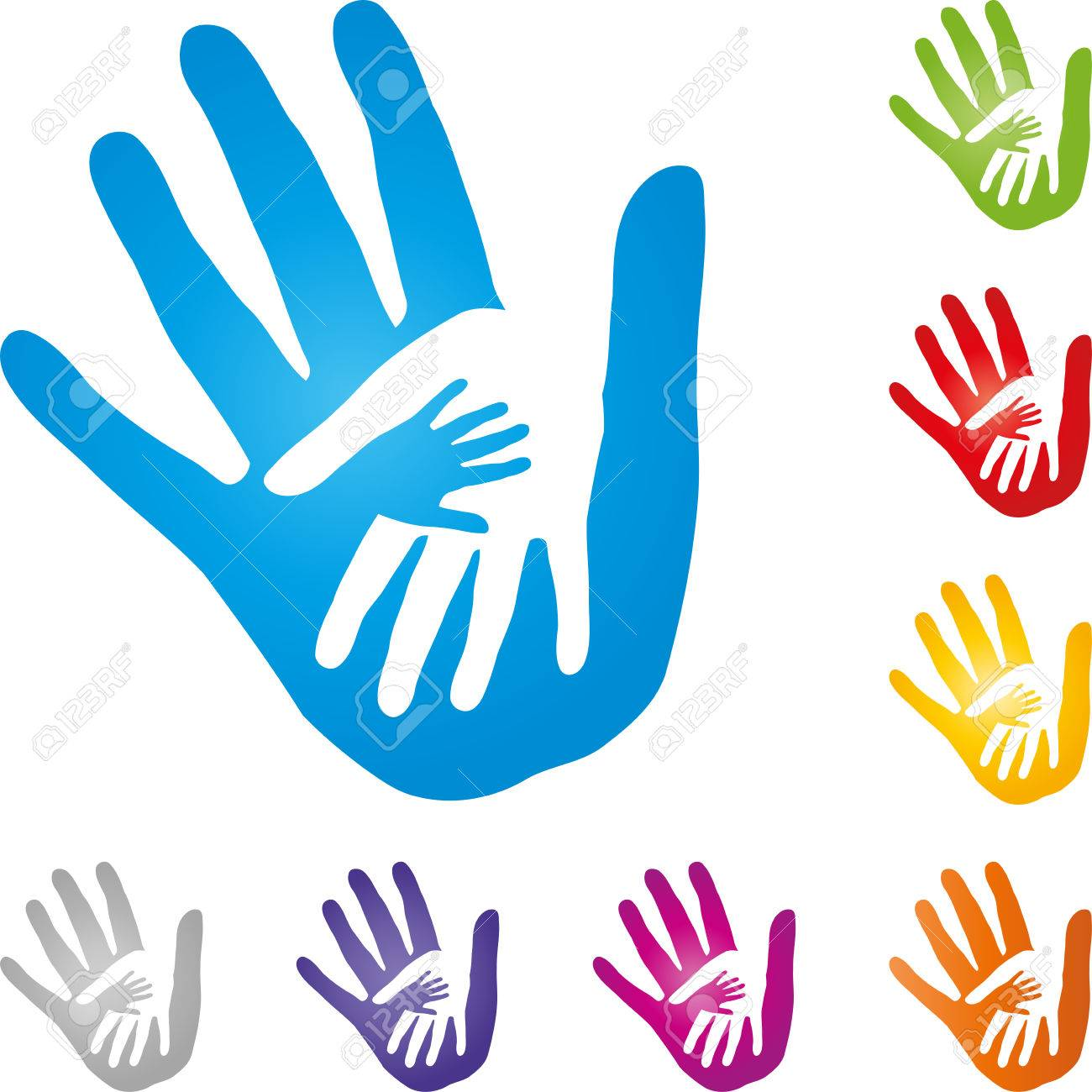 hands physiotherapy child hand vector royalty free cliparts rh 123rf com hand vector logo hand vector eps