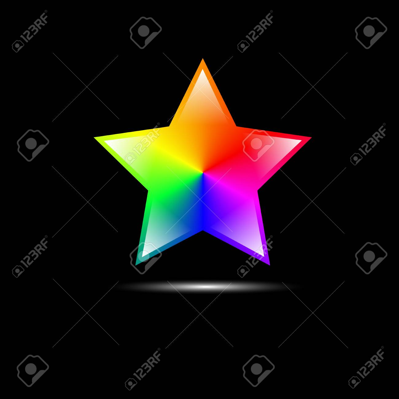 abstract colorful star shape Vector EPS10 Stock Vector - 28134226
