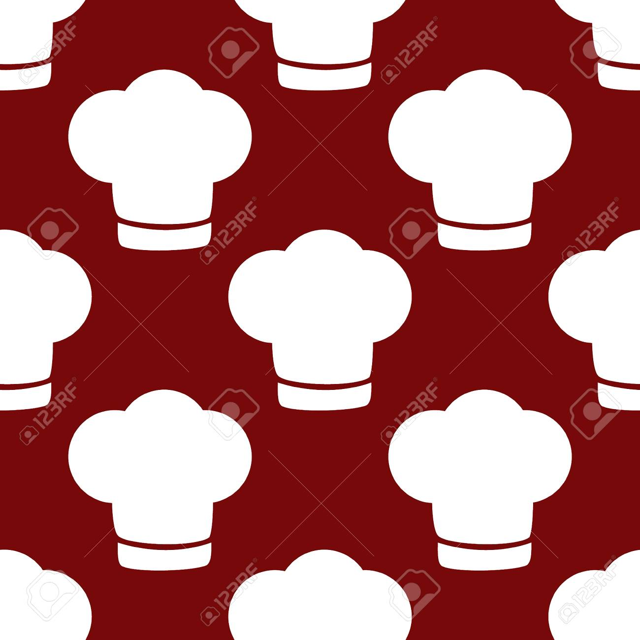 Chef cap web icon. flat design. Seamless gray pattern. Stock Photo -  31458451 d86d30f1ba9