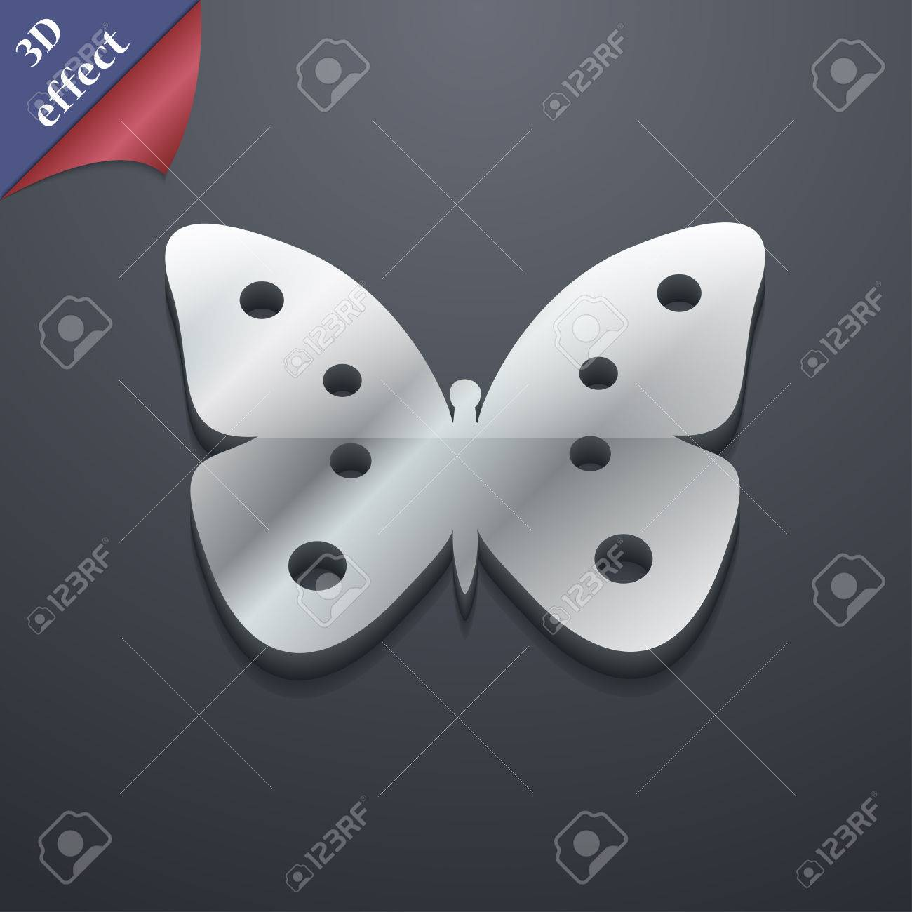 Butterfly icon symbol 3d style trendy modern design with space butterfly icon symbol 3d style trendy modern design with space for your text biocorpaavc Image collections