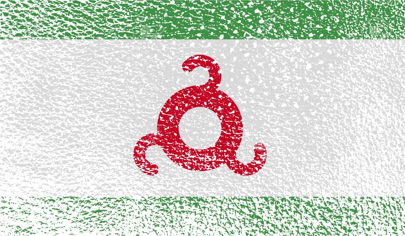 Bandera De Ingushetia Con Textura De Edad. Ilustración Fotos ...