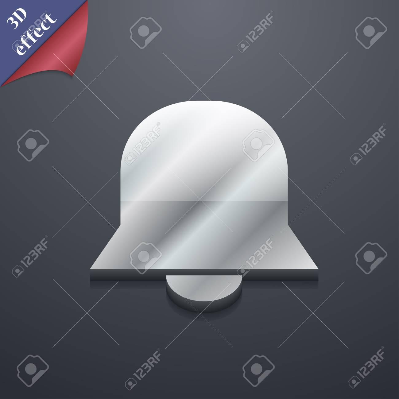 Campana De Alarma Icono De Símbolo. Plantillas En 3D. Diseño De ...