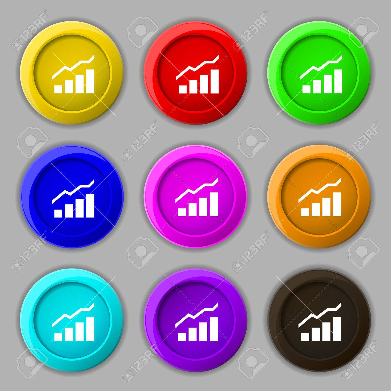Growth And Development Concept Graph Of Rate Icon Sign Symbol On