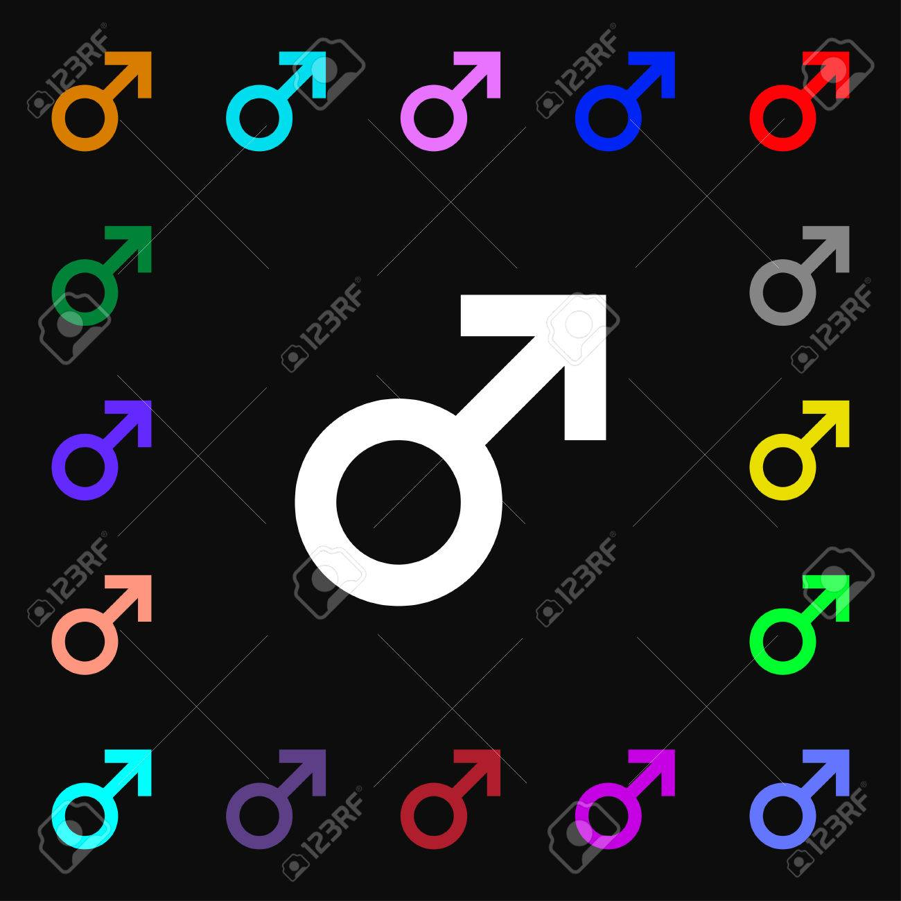 Male sex icon sign lots of colorful symbols for your design male sex icon sign lots of colorful symbols for your design vector illustration archivio biocorpaavc