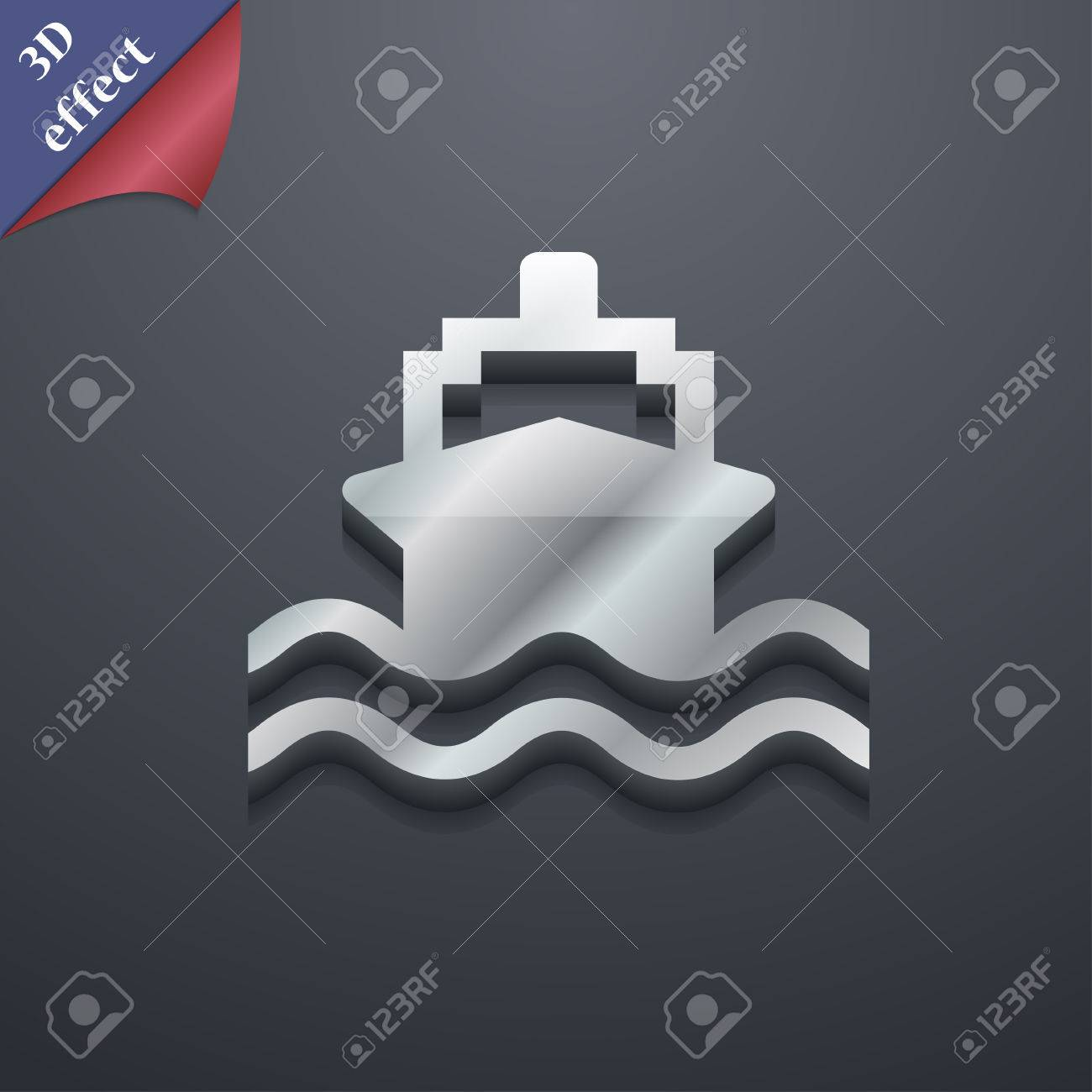 Ship icon symbol 3d style trendy modern design with space ship icon symbol 3d style trendy modern design with space for your text buycottarizona