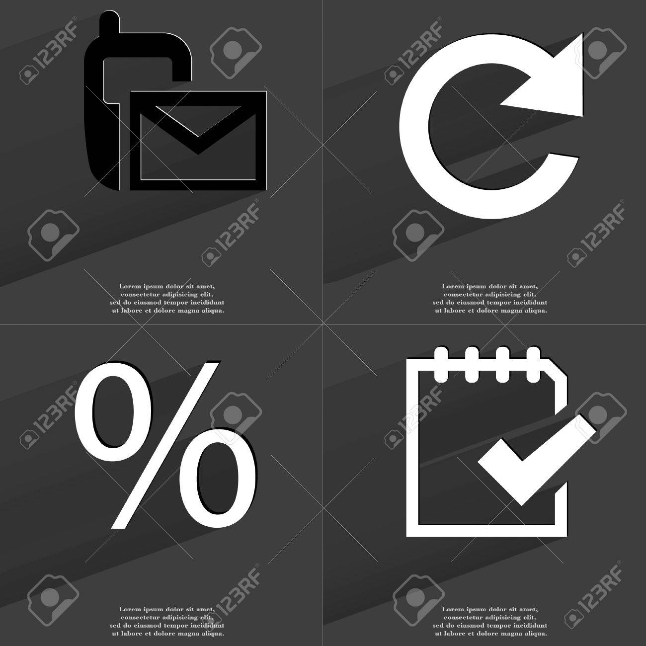 Sms reload percent task completed icon sign set of symbols sms reload percent task completed icon sign set of symbols with flat biocorpaavc Images
