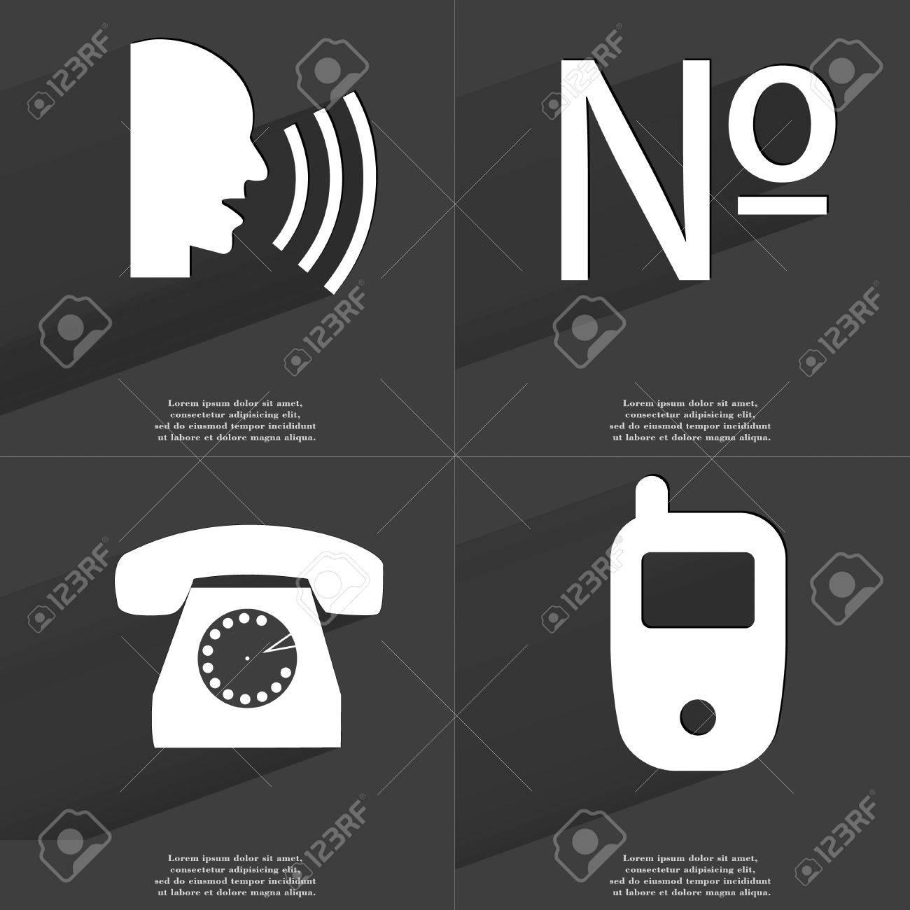 Talk numero retro phone mobile phone icon sign set of symbols talk numero retro phone mobile phone icon sign set of symbols with buycottarizona