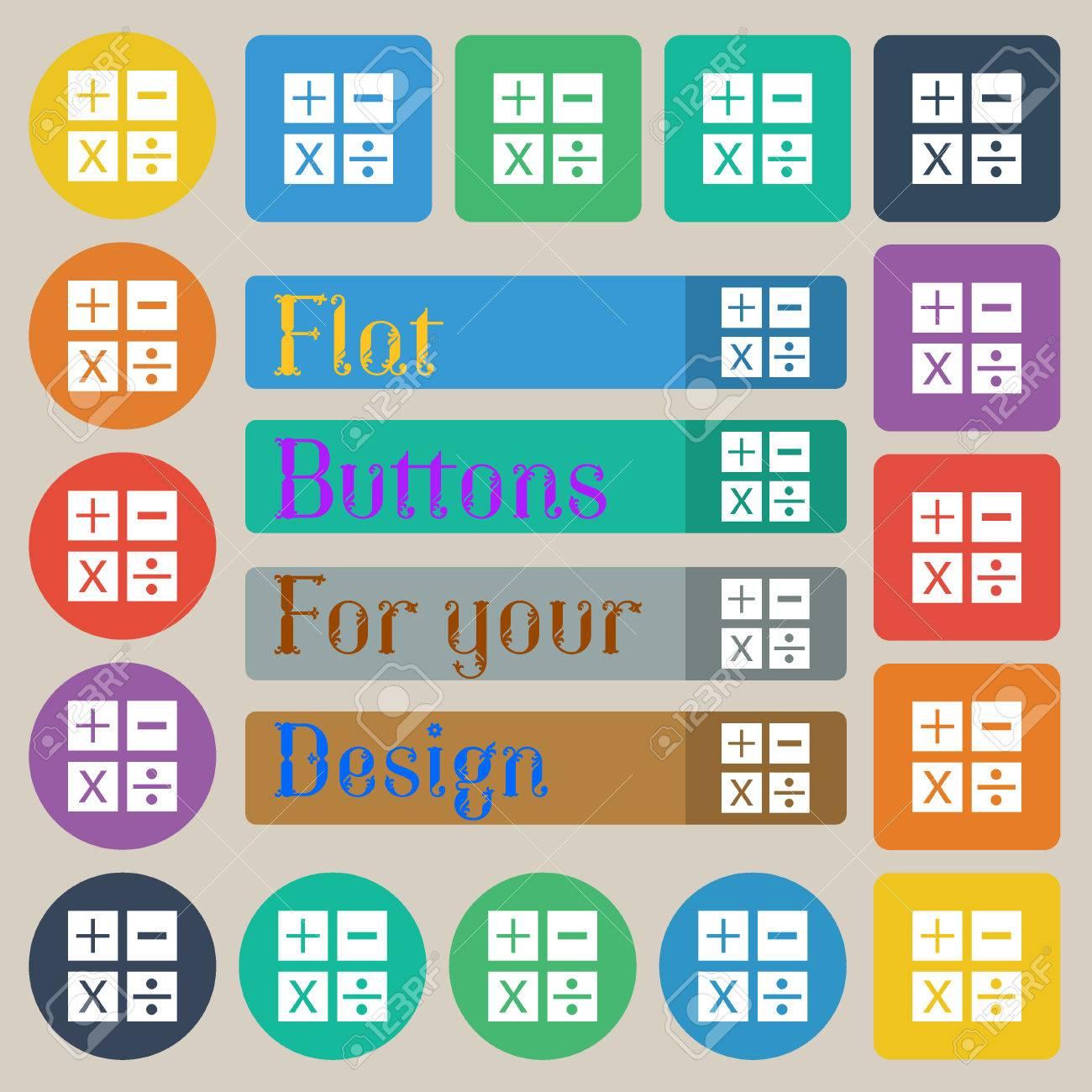 Multiplication, Division, Plus, Minus Icon Math Symbol Mathematics ...