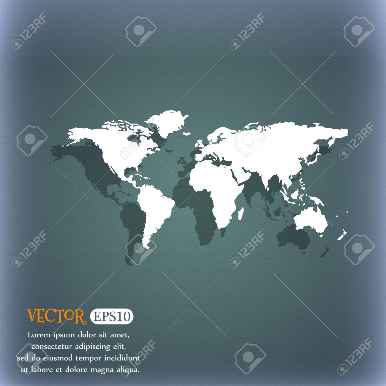 Globe sign icon world map geography symbol on the blue green globe sign icon world map geography symbol on the blue green abstract background gumiabroncs Images