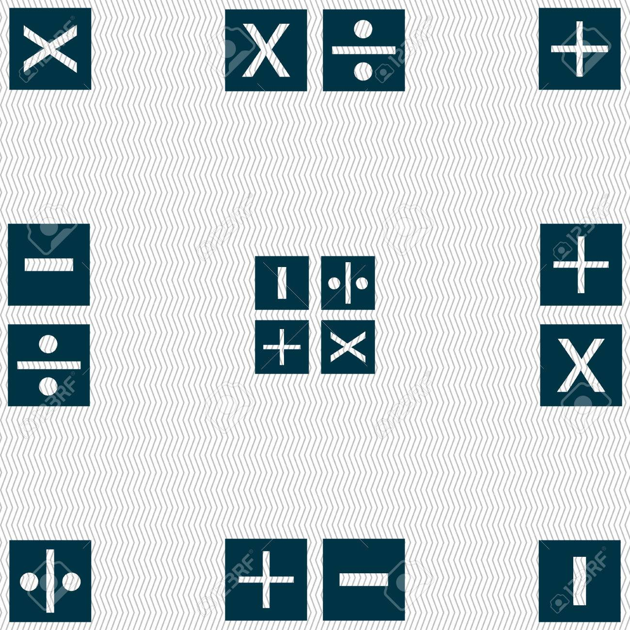 Multiplication division plus minus icon math symbol mathematics multiplication division plus minus icon math symbol mathematics seamless abstract background with biocorpaavc Gallery