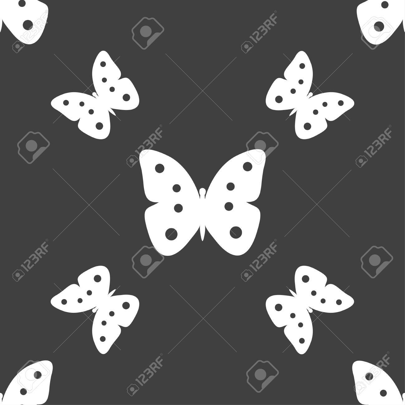 Butterfly sign icon insect symbol seamless pattern on a gray butterfly sign icon insect symbol seamless pattern on a gray background illustration banque biocorpaavc Images