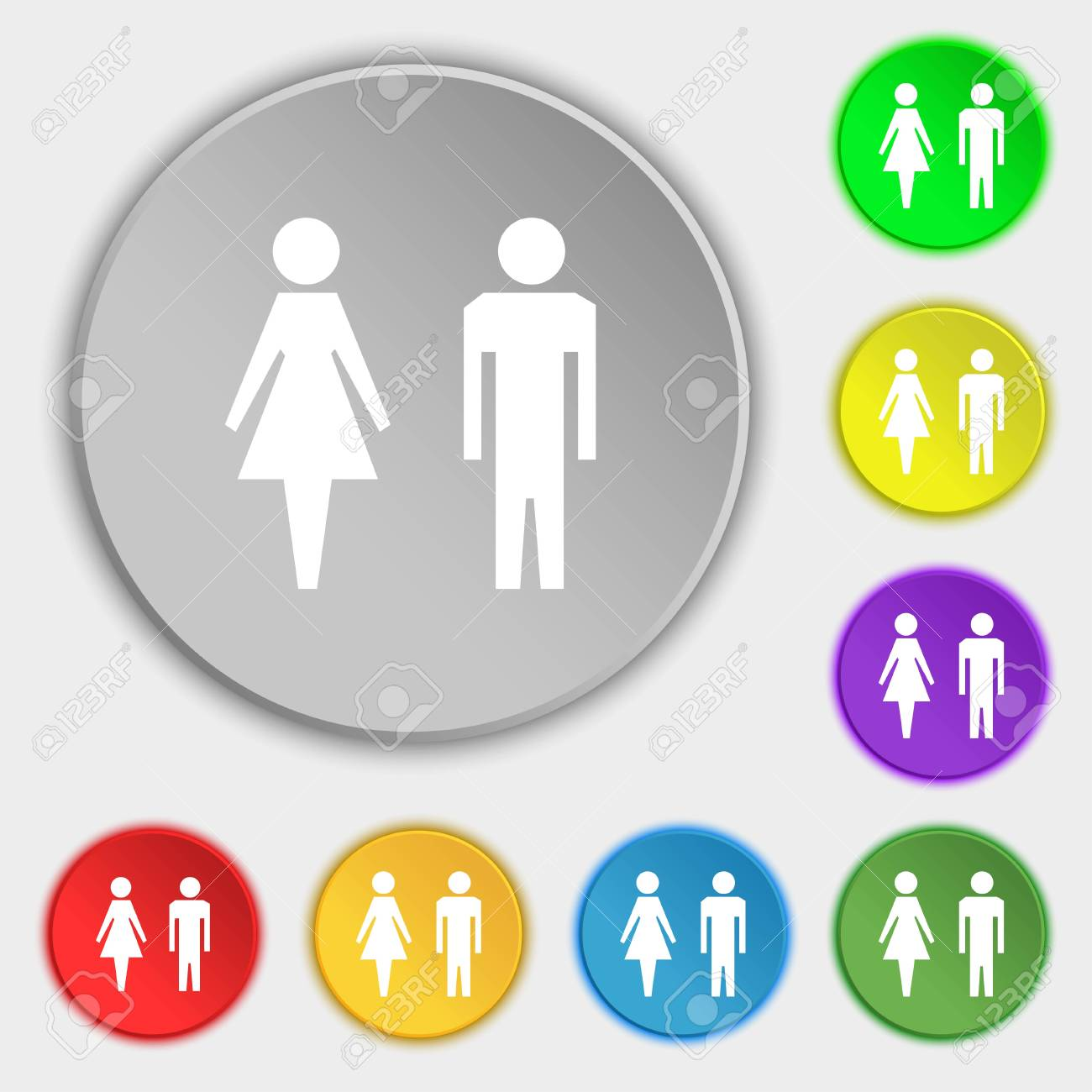Wc Sign Icon Toilet Symbol Male And Female Toilet Symbols Stock