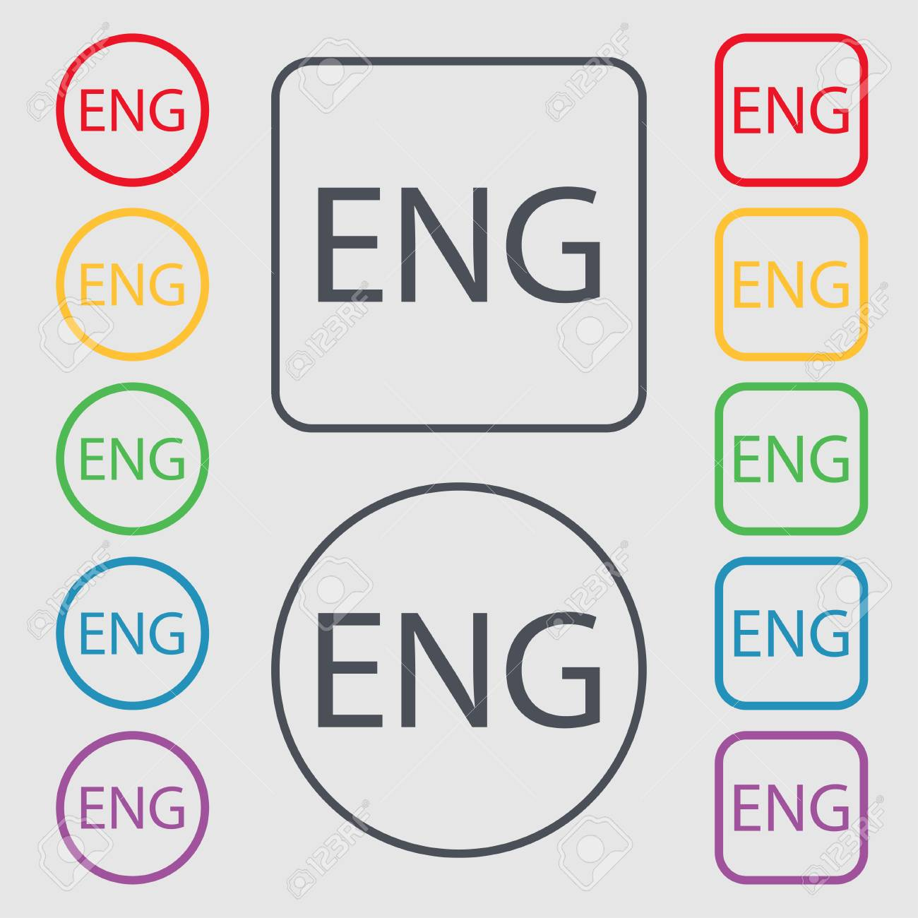 Icono De Signo Inglés. Gran Bretaña Símbolo. Símbolos En Los Botones ...
