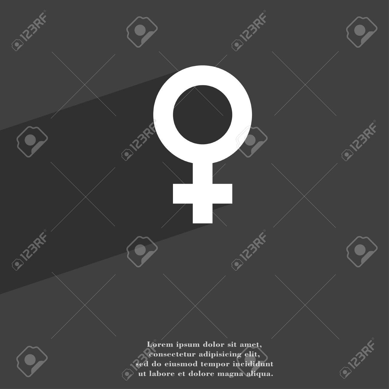 Symbols Gender Female Woman Sex Icon Symbol Flat Modern Web
