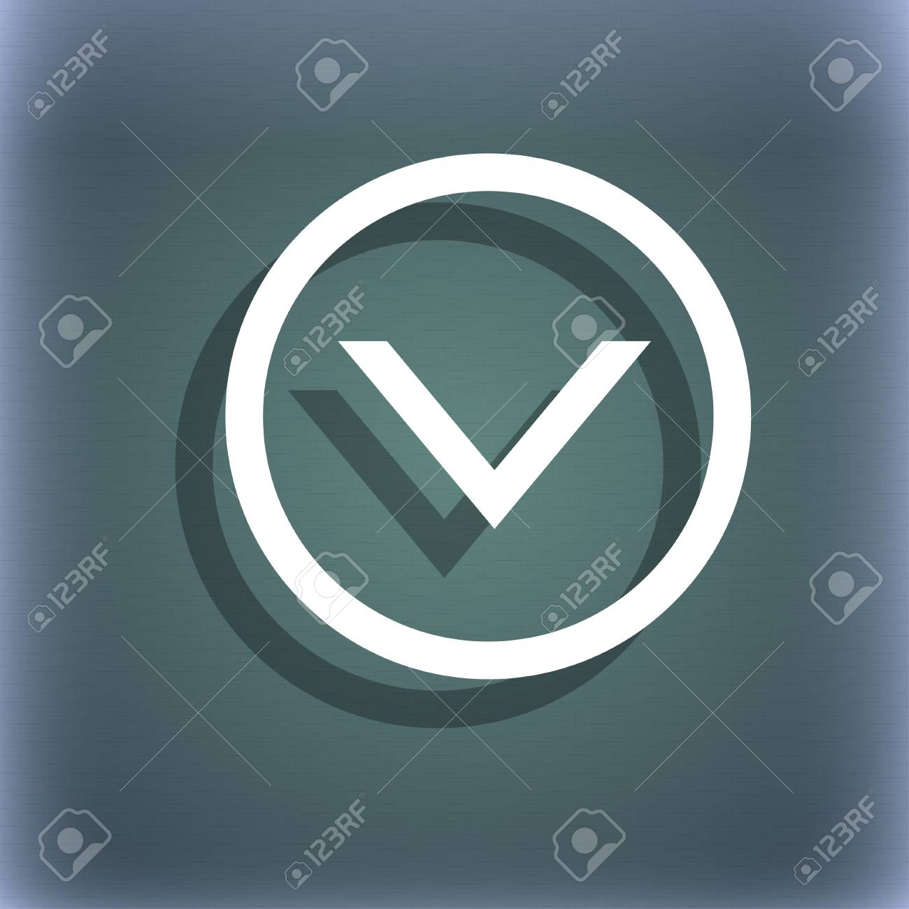 Arrow Down Download Load Backup Icon Symbol On The Blue Green