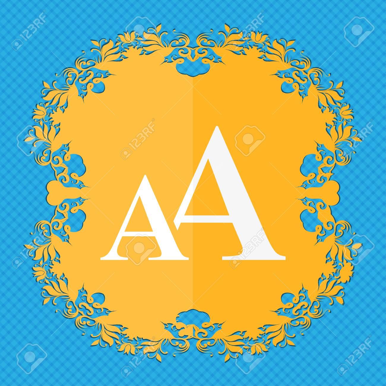 Vergrößern Sie Die Schrift Aa Symbol Zu Unterzeichnen Flaches Mit