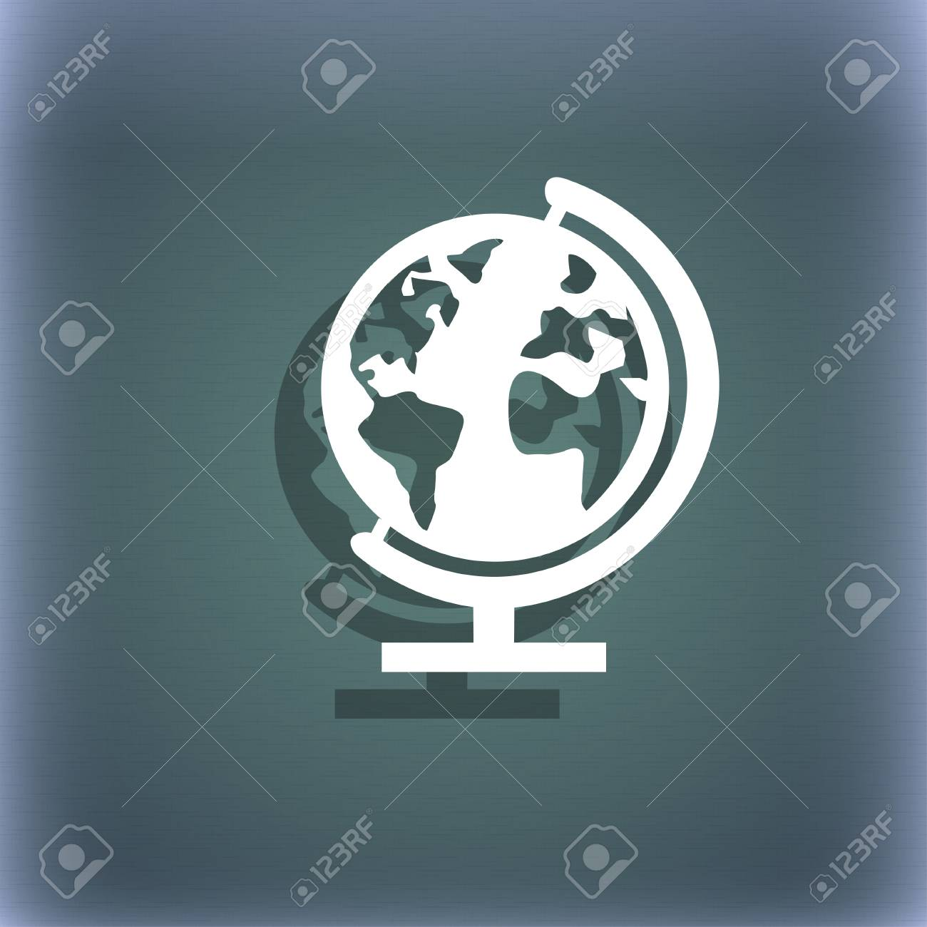 Globe sign icon world map geography symbol globes on stand stock globe sign icon world map geography symbol globes on stand for studying on gumiabroncs Gallery