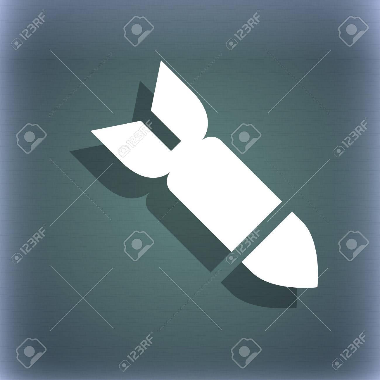 Misiles, Cohetes Símbolo Del Icono Del Arma En El Fondo Abstracto ...
