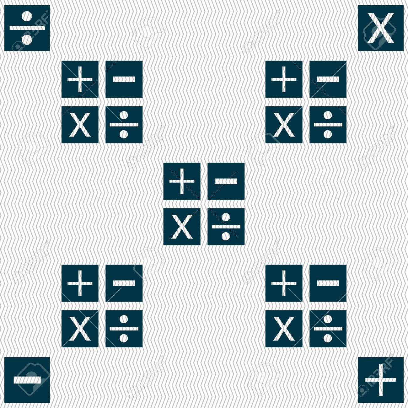 Multiplication division plus minus icon math symbol mathematics multiplication division plus minus icon math symbol mathematics seamless abstract background with biocorpaavc Image collections
