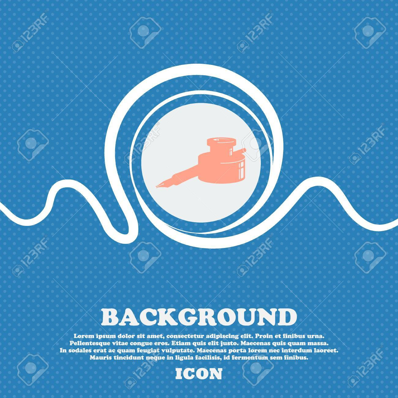 Pen and ink sign icon blue and white abstract background flecked pen and ink sign icon blue and white abstract background flecked with space for text biocorpaavc Choice Image