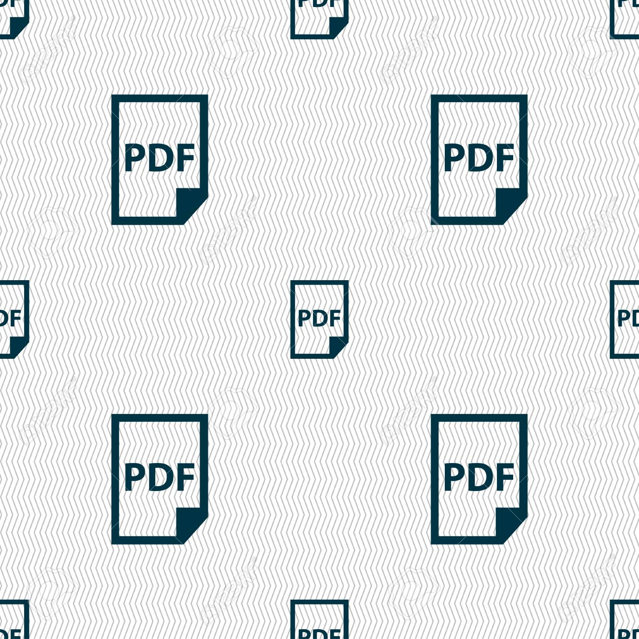 Icono De PDF. Firmar. Patrón Sin Fisuras Con Textura Geométrica ...