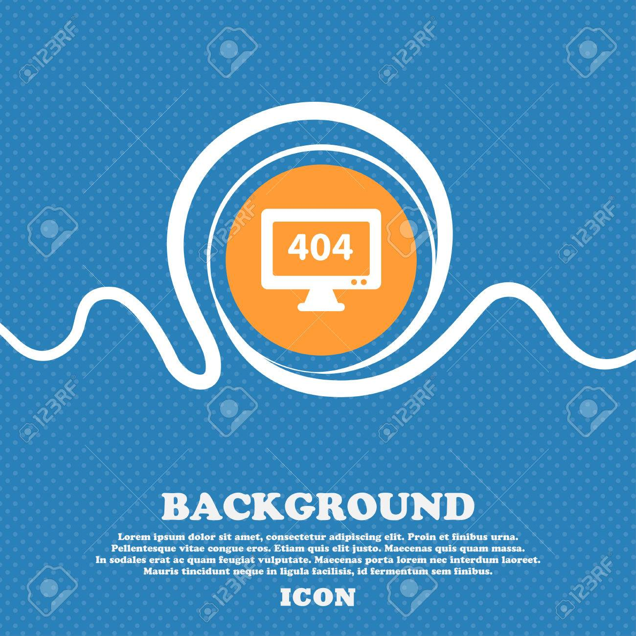 Background image 404 not found - 404 Not Found Error Icon Sign Blue And White Abstract Background Flecked With Space For