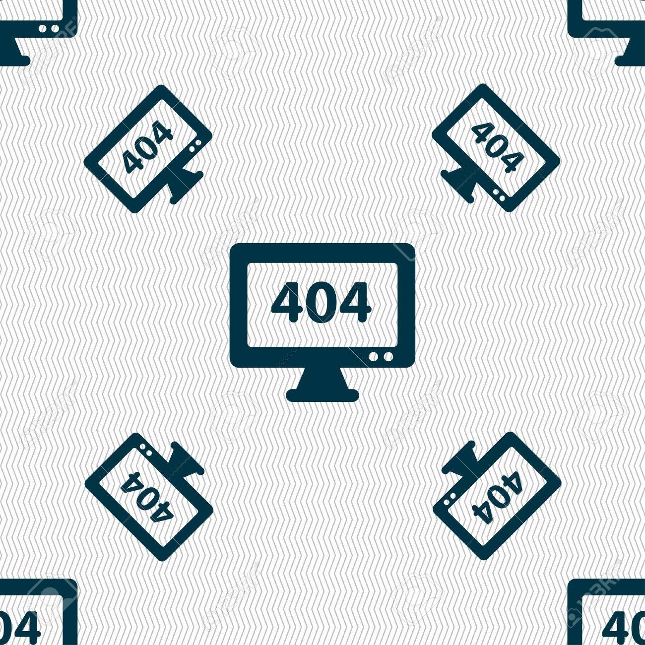 404 Not Found Erreur Icone Signe Seamless Texture Geometrique