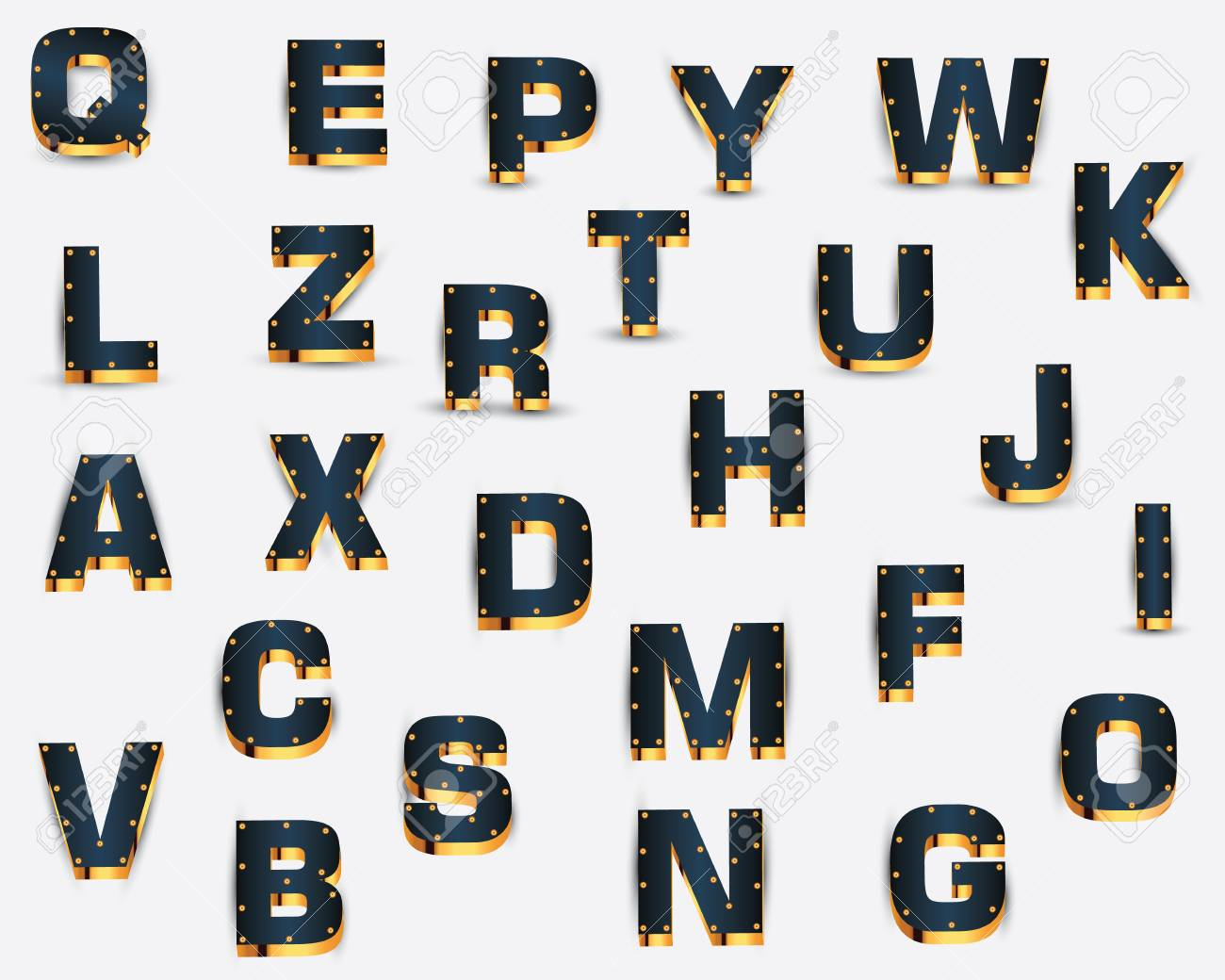 alphabet Stock Vector - 18513659