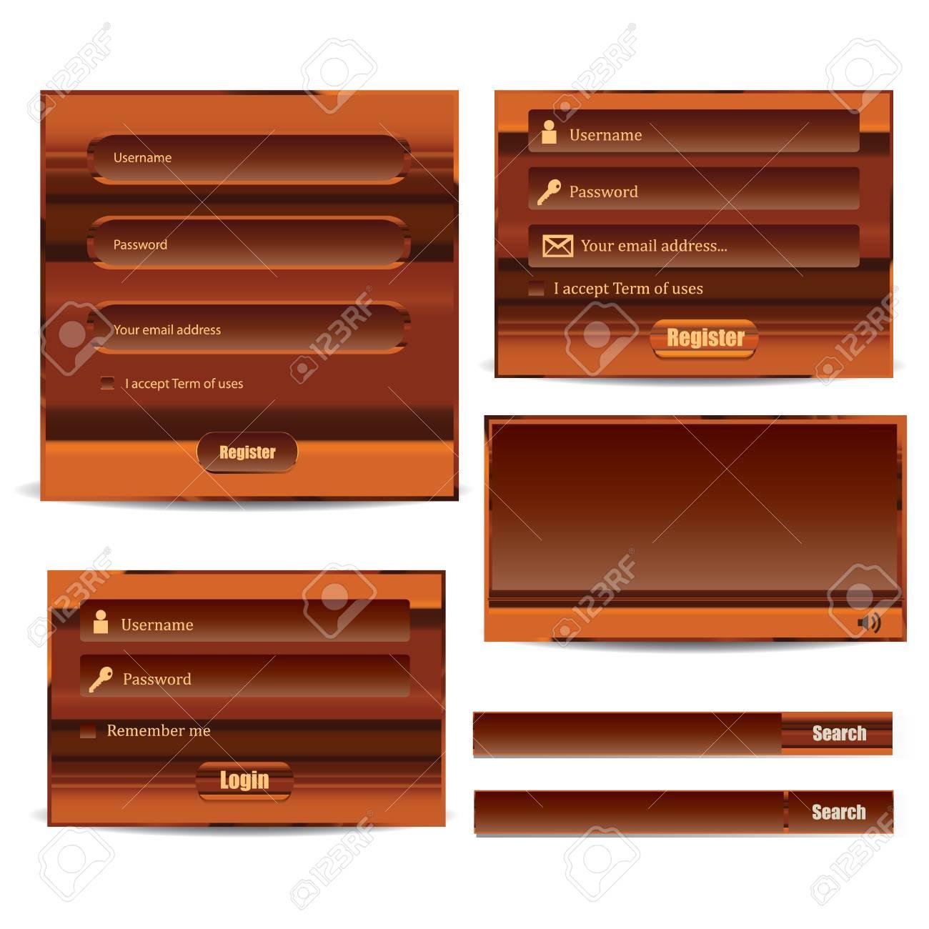 Web UI Elements Stock Vector - 18513718