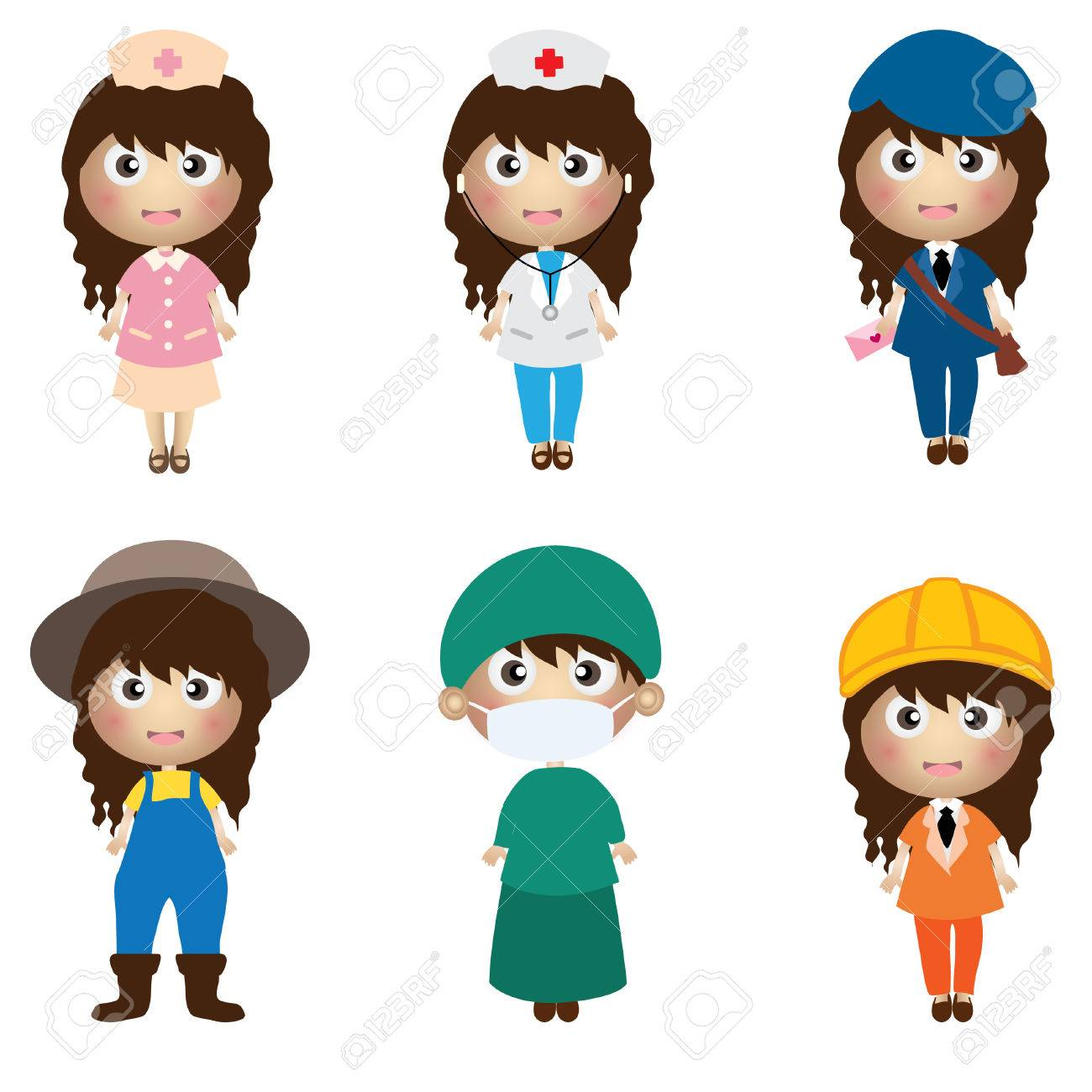 Career Kids Character Royalty Free Cliparts Vectors And Stock Illustration Image 34090617