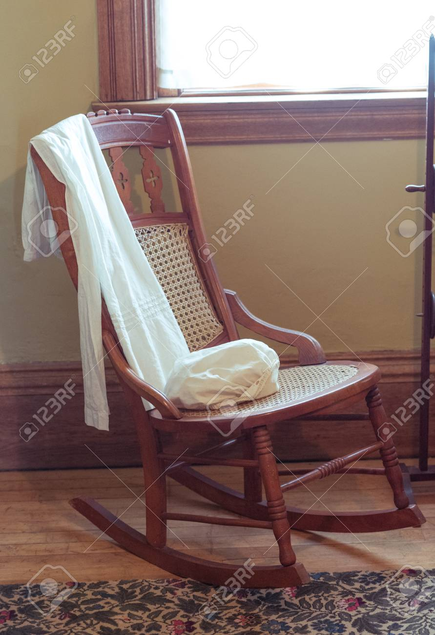 Remarkable Old Wooden Rocking Chair In A Room Machost Co Dining Chair Design Ideas Machostcouk