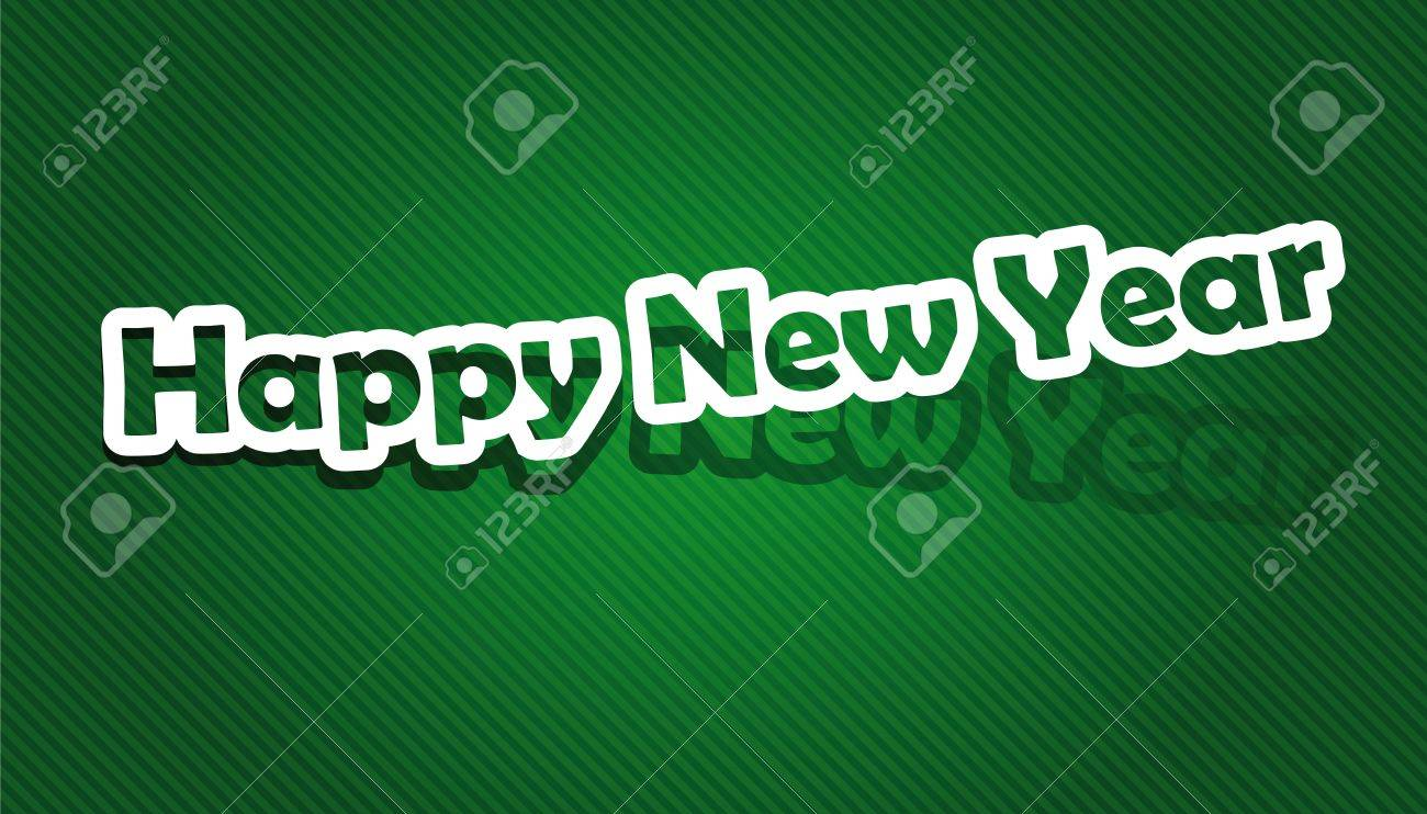 Realistic cut, takes the background color  illustration  Happy New Year Stock Vector - 16100926