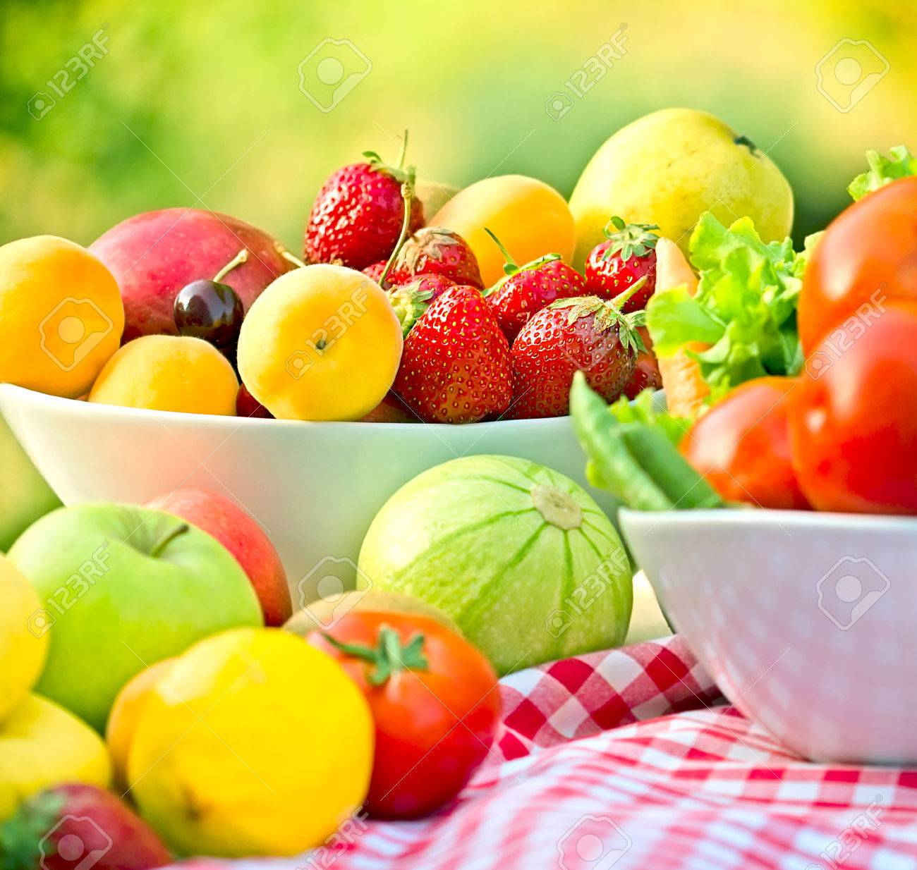 Organic fruits and vegetables - 41458987