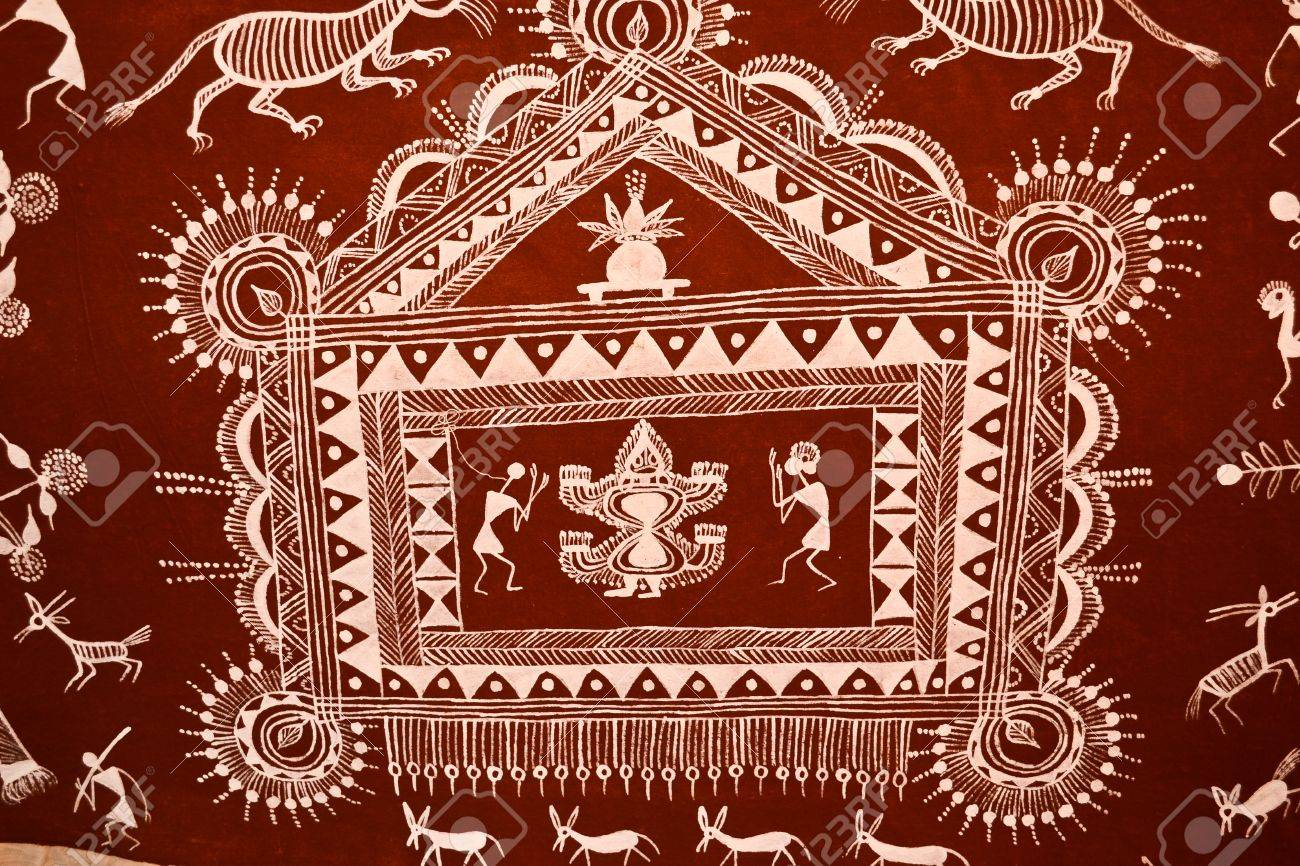 Warli painting poonamaharashtraindia stock photo picture and warli painting poonamaharashtraindia stock photo 14784916 altavistaventures Image collections