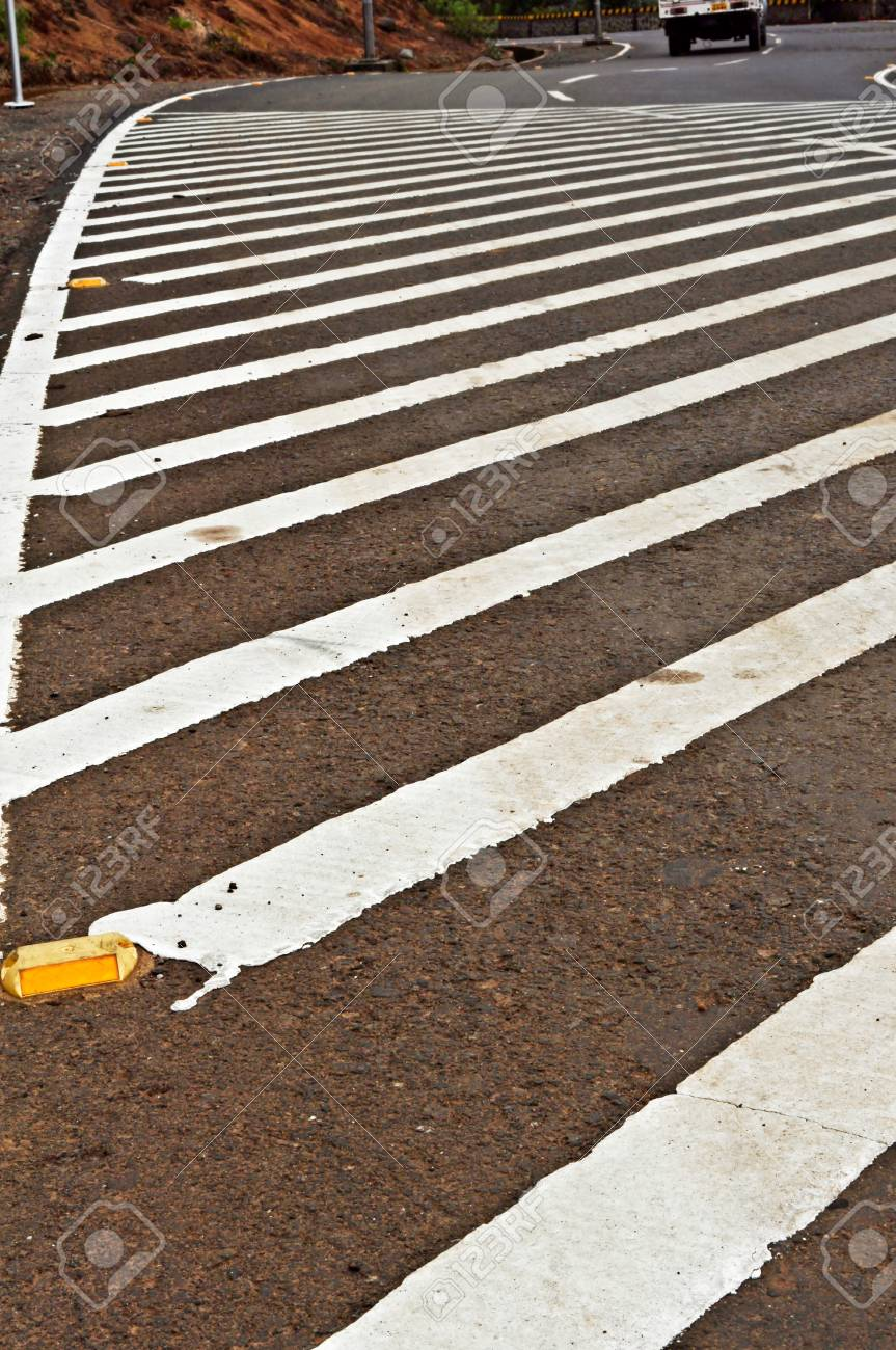 Zebra - pedestrian road crossin,Poona,Maharashtra,India Stock Photo - 14969713