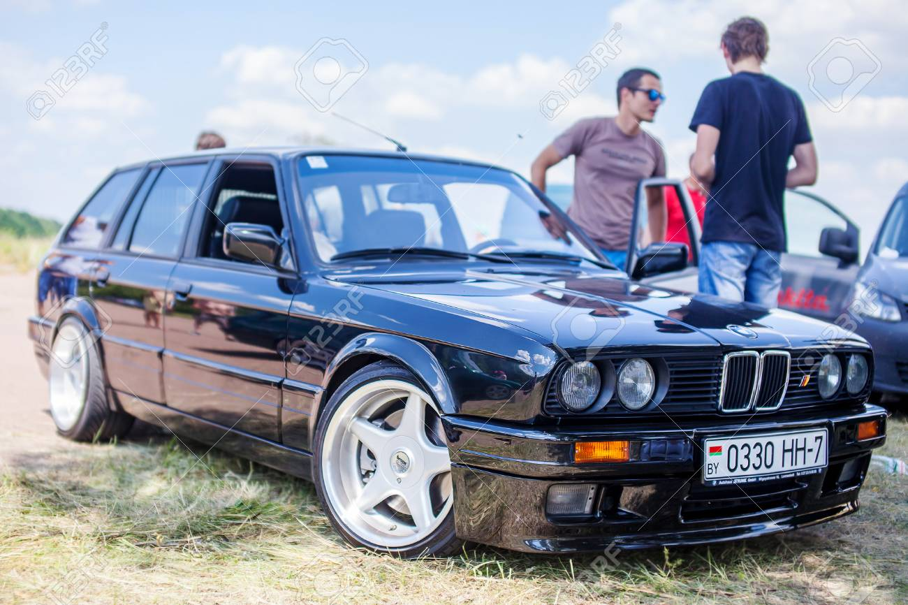 Kyiv Ukraine 29 June 2016 Black Bmw E30 Touring On Exhibition Stock Photo Picture And Royalty Free Image Image 64958903