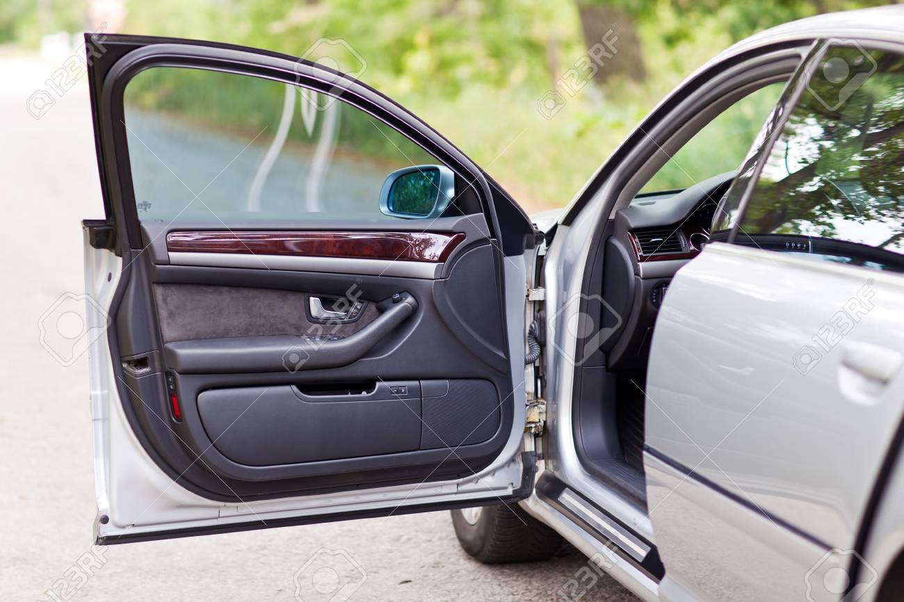 The Front Open Door Of Modern Luxury Car Stock Photo Picture And