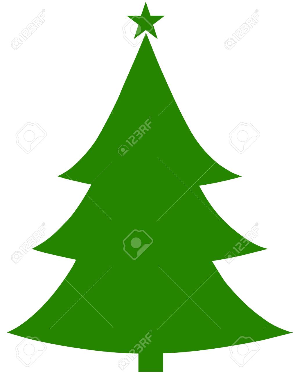 Christmas Tree Vector.Christmas Tree Vector Flat Design Style
