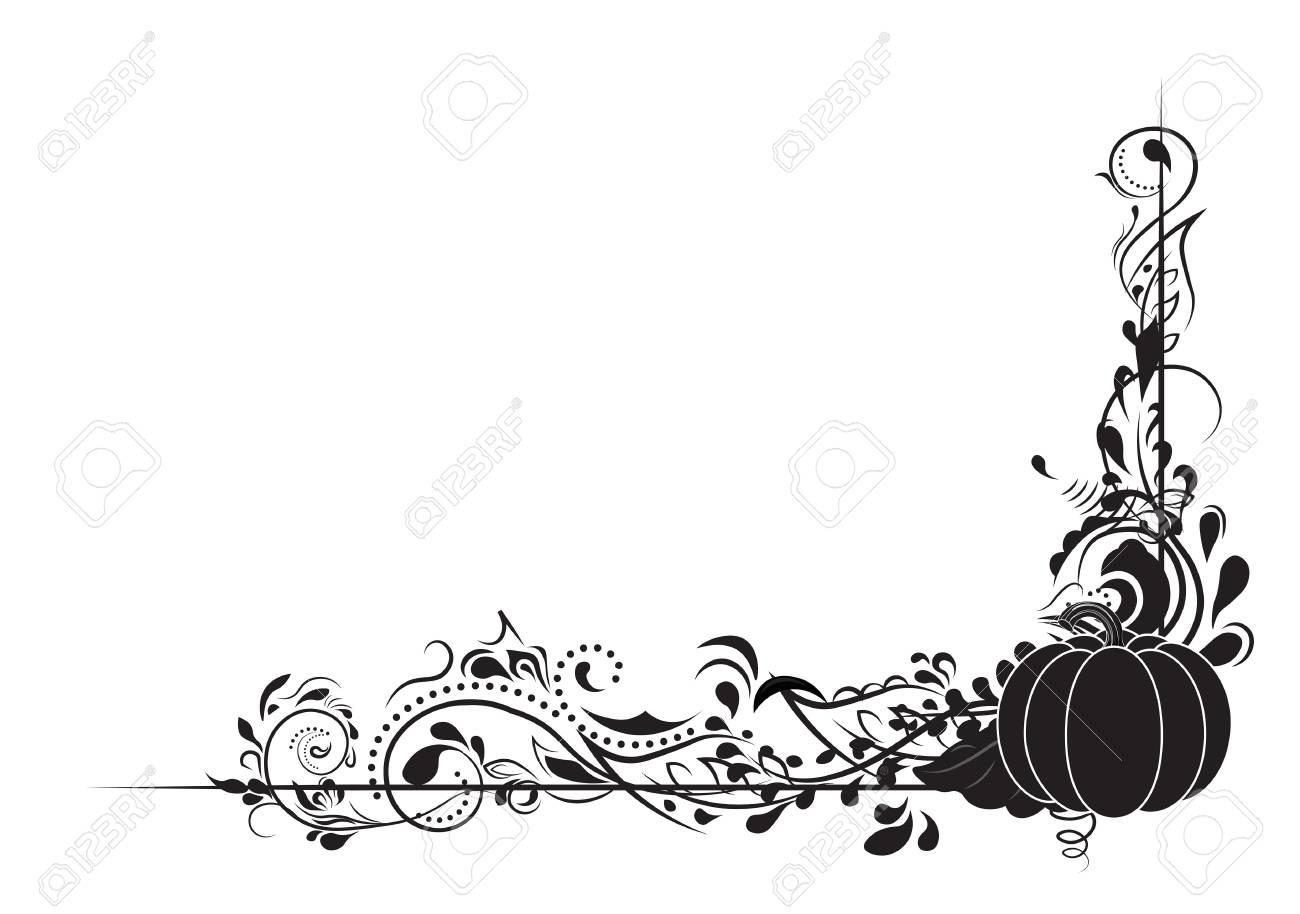 herbst muster urlaub halloween krbis und spiralen standard bild 81795303 - Muster Urlaubsantrag
