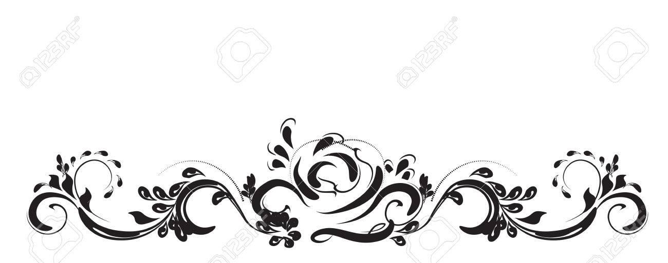 beautiful vintage flower pattern white on a black background rh 123rf com flower pattern clip art flower pattern clipart