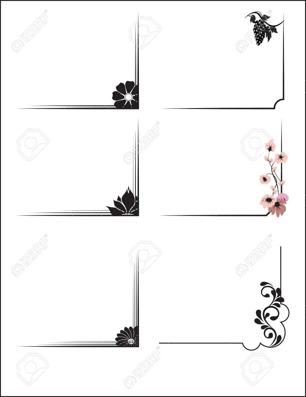 Hte Flower Frame, Corners, Shadings For A Framework Royalty Free ...