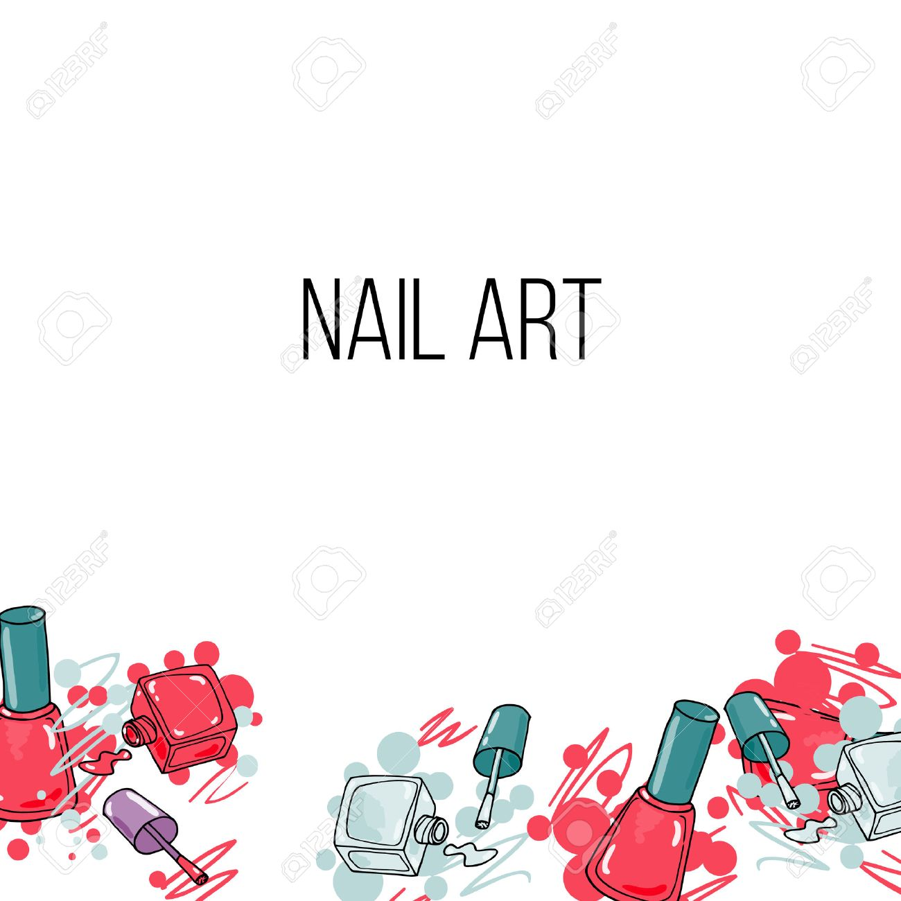 18808 nail art stock illustrations cliparts and royalty free vector nail lacquer bottlesand drops of nail polish on white background beauty background border and prinsesfo Choice Image