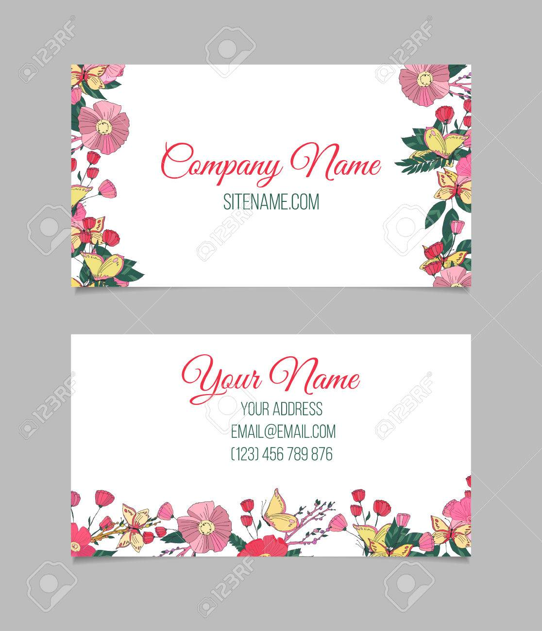 Flower Business Card Gallery - Free Business Cards