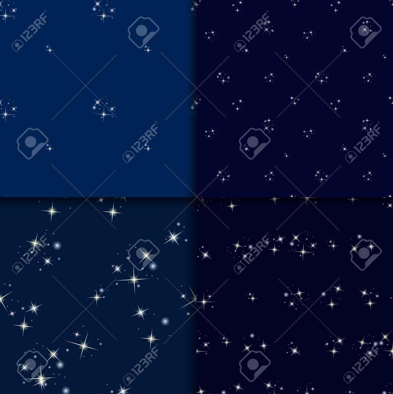 Vettoriale Set Cielo Stellato Modelli Senza Soluzione Di
