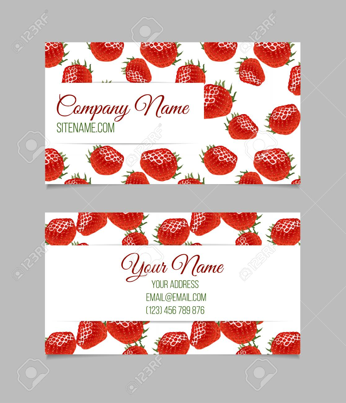 Card Template. This File Can Be Used For Advertising, Print Design ...