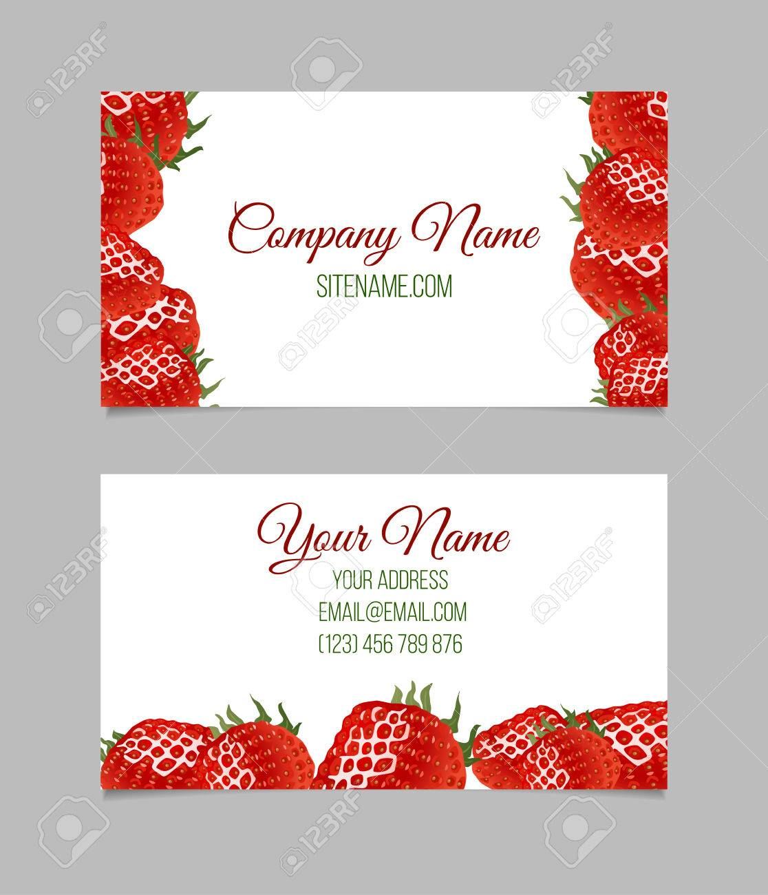 Vector Business Card Template. This File Can Be Used For Advertising ...