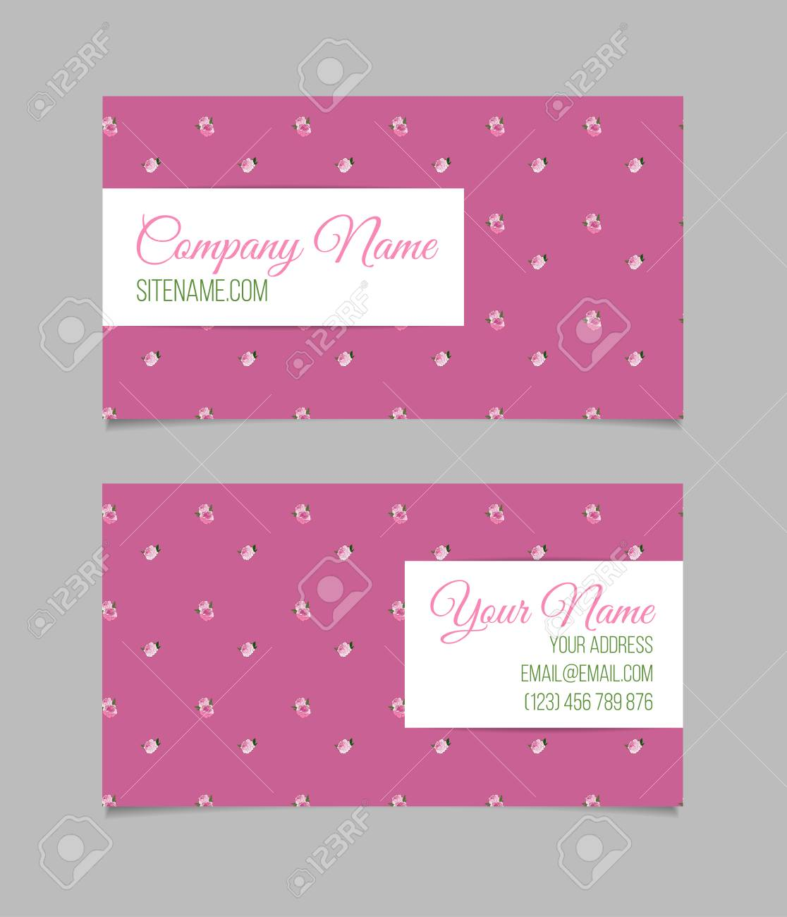 Double sided floral business card template with peonies on pink double sided floral business card template with peonies on pink background stock photo 49870001 wajeb Images