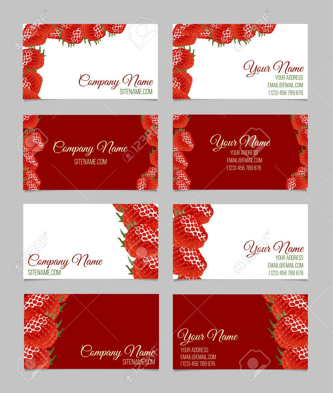 Vector Business Card Set. This File Can Be Used For Advertising ...